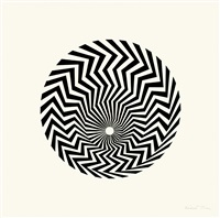 untitled (based on primitive blaze) by bridget riley