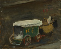 ice wagon in winter by robert henri