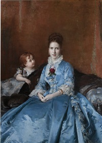 portrait of mrs. clotilde de cándamo and her son carlos by raimundo de madrazo y garreta