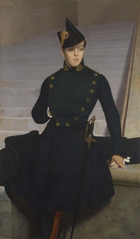 portrait of armand gérôme, brother of the artist by jean-léon gérôme