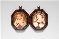 double reliquary pendant by unknown