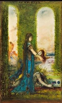 salomé au jardin by gustave moreau