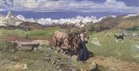 l'horizon (la plaine) by jean françois millet