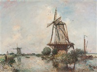 canal aux environs de rotterdam by johan barthold jongkind