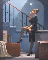 dancer for money (study) by jack vettriano