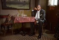 jay-z with cat, new york by martin schoeller