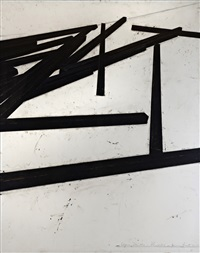 lignes droites-désordre by bernar venet