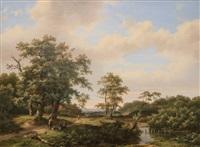 a rest at the brook by marinus adrianus koekkoek the elder