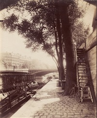 quai d'anjou, paris by eugène atget