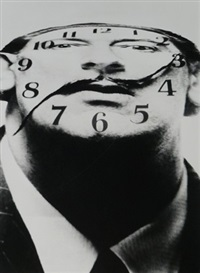 dali clock face by philippe halsman
