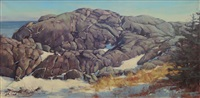 gullrock in winter by alison hill