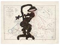 carte de l'europe (shower woman) by william kentridge