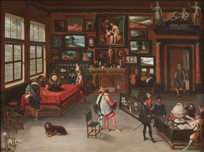 a collector's cabnet by adriaen van stalbemt
