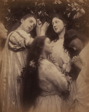 "mary hiller and four other women (""have we not heard the bridegroom is so sweet!"") by julia margaret cameron"