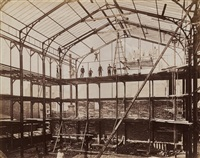 construction of market building by louis lafon