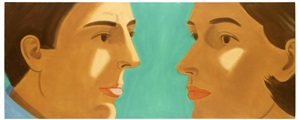 double portrait by alex katz