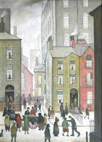 the hawker's cart by laurence stephen lowry