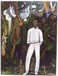 la pintura: descarga del monte (painting: jungle jam) by rafael ferrer