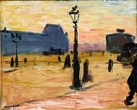 soleil couchant, la cour du carrousel by albert marquet