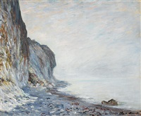 falaise by claude monet