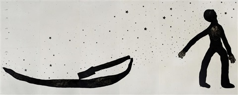 take your boat and abandon your home from alis boat series by sadik kwaish alfraji