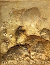 pastoral scene, late 18th century by francesco londonio
