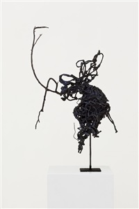 pipe cleaner artist maquette / studio construction #25 by rodney graham