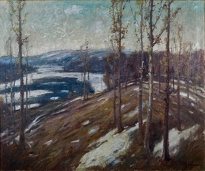winter thaw - northern minnesota by knute heldner