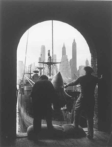 unloading coffee at a brooklyn dock by andreas feininger