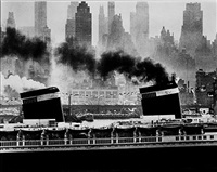 s.s. united states in new york harbor by andreas feininger