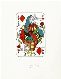queen of diamonds, from playing cards by salvador dalí