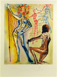 the ballet of flowers (the fashion designer) by salvador dalí
