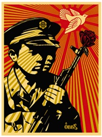 chinese soldiers by shepard fairey