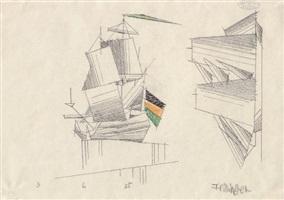 zwei segelboote by lyonel feininger