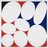 ovals #21 (red-blue-black) by cary smith