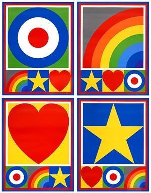 motif suite: target, rainbow, heart, star by peter blake