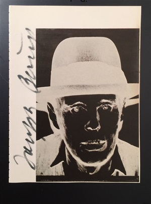signed warhol book page by joseph beuys