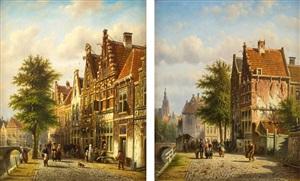 the grachten, amsterdam by johannes franciscus spohler