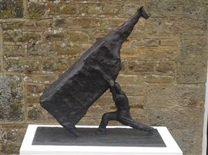man lifting cow by john kelly