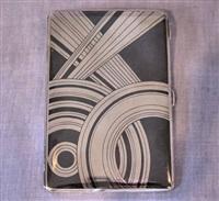 silver niello cigarette case by gérard sandoz