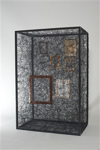 state of being (picture frames) by chiharu shiota