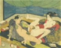 utagawa kunisada shiko no nagame 1829 i by tobias rehberger