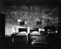 camera obscura: image of the tuscan landscape in large bedroom by abelardo morell