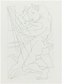 minotaure embrassant une femme by pablo picasso