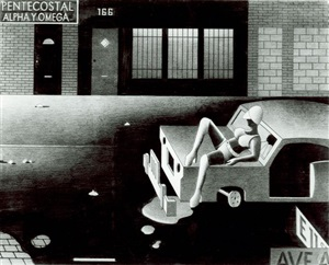 street woman on car by anton van dalen