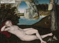 the nymph of spring by lucas cranach the younger