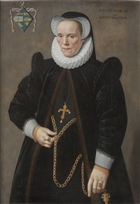 caterine van damme (1541-1622), at the age of fifty by frans pourbus the younger