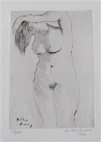 nude combing hair by milton avery