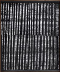 dynamische struktur schwarz-weiß by heinz mack