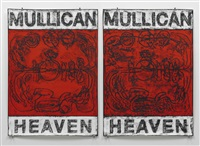 untitled (poster heaven / red) by matt mullican